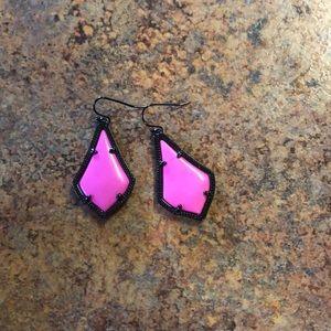 Alex gunmetal drop earrings